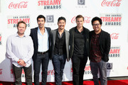 Internet personalities Kevin Tancharoen, Casper Van Dien, Brian Tee, Ian Anthony Dale and Lance Sioane attend the 3rd Annual Streamy Awards at Hollywood Palladium on February 17, 2013 in Hollywood, California.