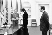380450 14: President Richard Nixon meets with Elvis Presley December 21, 1970 at the White House.