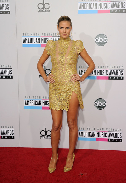 TV personality Heidi Klum attends the 40th American Music Awards held at Nokia Theatre L.A. Live on November 18, 2012 in Los Angeles, California.
