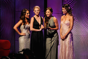(L-R) Actors Kristin Alderson, Hunter King, Lindsey Morgan and Jacqueline MacInnes Wood speak onstage during The 40th Annual Daytime Emmy Awards at The Beverly Hilton Hotel on June 16, 2013 in Beverly Hills, California.