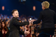 Ellen DeGeneres and Justin Timberlake Photos Photo