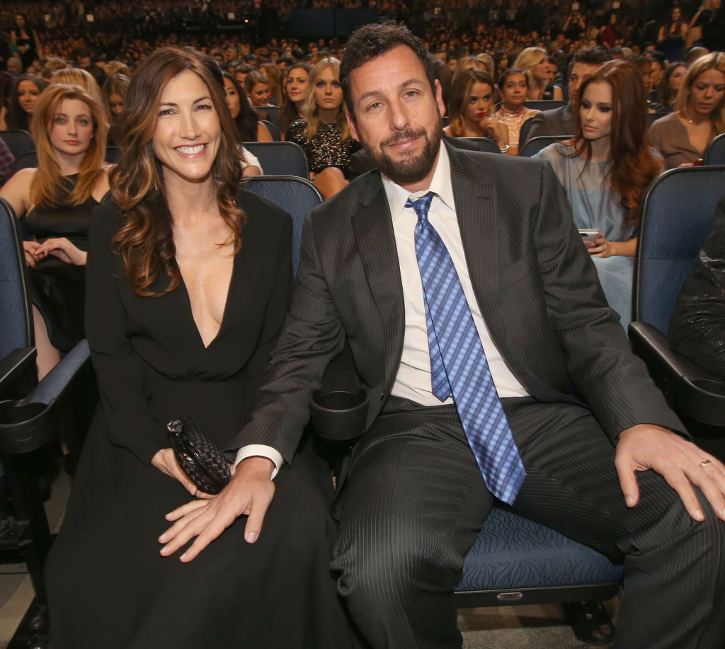 adam sandler and jackie sandler photos photos backstage