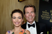 Actors Amelia Heinle and Peter Bergman attend The 41st Annual Daytime Emmy Awards at The Beverly Hilton Hotel on June 22, 2014 in Beverly Hills, California.
