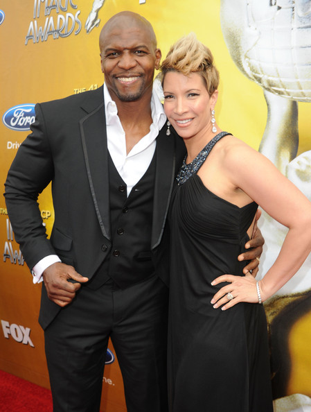 Actor Terry Crews (L) and guest arrive at the 41st NAACP Image awards held at The Shrine Auditorium on February 26, 2010 in Los Angeles, California.