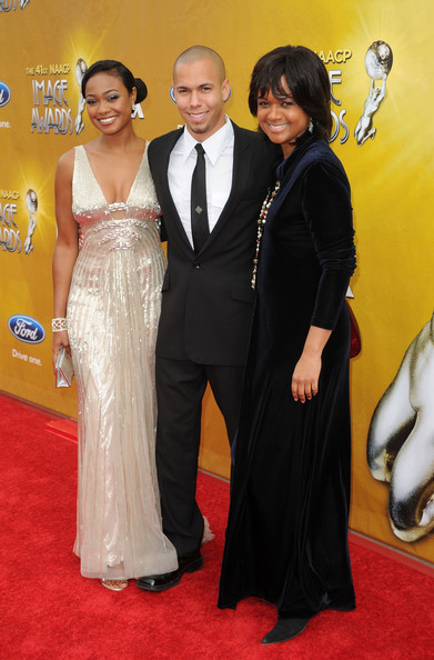 (L-R) Actress Tatyana Ali, actor Bryton McClure and actress Tonya Lee Williams arrive at the 41st NAACP Image awards held at The Shrine Auditorium on February 26, 2010 in Los Angeles, California.