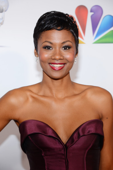 Actress Emayatzy Corinealdi attends the 44th NAACP Image Awards at The Shrine Auditorium on February 1, 2013 in Los Angeles, California.