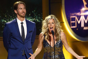 Wes Ramsey and Laura Wright on stage during the 45th Annual Daytime Creative Arts Emmy Awards at Pasadena Civic Auditorium on April 27, 2018 in Pasadena, California.