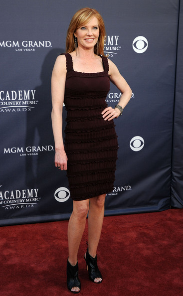Actress Marg Helgenberger arrives at the 46th Annual Academy Of Country Music Awards RAM Red Carpet held at the MGM Grand Garden Arena on April 3, 2011 in Las Vegas, Nevada.
