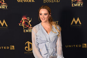 Hunter King poses in tthe press room during the 46th annual Daytime Emmy Awards at Pasadena Civic Center on May 05, 2019 in Pasadena, California.