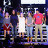 Boston Gilbert Photos - Singer Lee Brice (L) with guests Boston Gilbert, Ginger Gilbert Ravella, Bella Gilbert Ravella, Annalise Gilbert Ravella, Aspen Gilbert Ravella, and Greyson Ravella onstage at the 4th ACM Party for a Cause Festival at the Las Vegas Festival Grounds on April 2, 2016 in Las Vegas, Nevada. - 4th ACM Party for a Cause Festival - Day 2 - Show