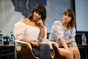 Stephanie Beatriz and Natalie Morales speak onstage during 'The Time is Now' panel at the 4th Annual Bentonville Film Festival - Day 5 on May 5, 2018 in Bentonville, Arkansas.