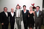 """(L-R) Chairman and Chief Executive Officer of Fox Filmed Entertainment Jim Gianopulos, CEO of DreamWorks Animation Jeffrey Katzenberg, actors Tony Goldwyn, John Stamos, dancer Kym Johnson and tv personality Robert Herjavec attend the 4th Annual """"Reel Stories, Real Lives"""", benefiting the Motion Picture & Television Fund at Milk Studios on April 25, 2015 in Hollywood, California."""