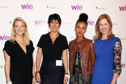 Kristy Caylor, Ghislaine Maxwell, Esperanza Spalding and Lisa Stone attend day 1 of the 4th Annual WIE Symposium at Center 548 on September 20, 2013 in New York City.