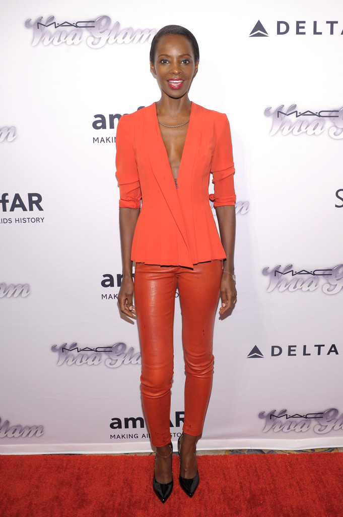 Model Kiara Kabukuru attends the 4th Annual amfAR Inspiration Gala New York at The Plaza Hotel on June 13, 2013 in New York City.