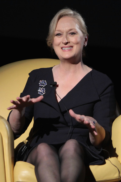 Actress Maryl Streep attends the Meryl Streep Masterclass during Day 8 of the 4th International Rome Film Festival held at the Auditorium Parco della Musica on October 22, 2009 in Rome, Italy.