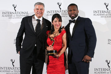50 Cent International Academy of Television Arts & Sciences Awards Press Room