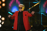 "Heino performs on stage during the taping of the show ""50 Jahre Hitparade"" on April 12, 2019 in Offenburg, Germany. The show will air on ZDF on April 27, 2019."