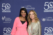 Nicole C. Mulllen and Kathie Lee Gifford attend the 50th Annual GMA Dove Awards on October 15, 2019 in Nashville, Tennessee.