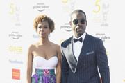 Ryan Michelle Bathe (L) and Sterling K. Brown attend the 50th NAACP Image Awards at Dolby Theatre on March 30, 2019 in Hollywood, California.