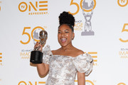 Laya Deleon Hayes poses in the press room at the 50th NAACP Image Awards Non-Televised Dinner at Beverly Hilton Hotel on March 29, 2019 in Beverly Hills, California.