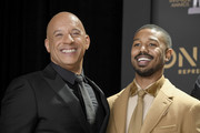 Vin Diesel (L) and Michael B. Jordan attend the 50th NAACP Image Awards at Dolby Theatre on March 30, 2019 in Hollywood, California.