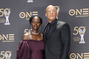 (L-R) Lupita Nyong'o, winner of Outstanding Motion Picture and Outstanding Ensemble Cast in a Motion Picture for 'Black Panther', and Vin Diesel attend the 50th NAACP Image Awards at Dolby Theatre on March 30, 2019 in Hollywood, California.
