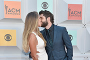 Lauren Gregory (L) and recording artist Thomas Rhett attend the 51st Academy of Country Music Awards at MGM Grand Garden Arena on April 3, 2016 in Las Vegas, Nevada.