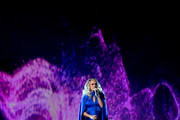 (FOR EDITORIAL USE ONLY) Carrie Underwood performs onstage during the 52nd annual CMA Awards at the Bridgestone Arena on November 14, 2018 in Nashville, Tennessee.