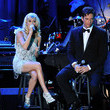 She sings sweetly with Harry Connick Jr.