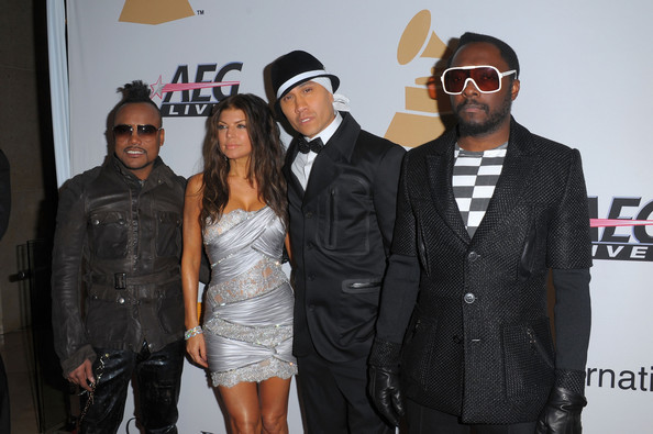 Musicians apl.de.ap, Fergie, Taboo, and will.i.am of Black Eyed Peas arrive at the 52nd Annual GRAMMY Awards - Salute To Icons Honoring Doug Morris held at The Beverly Hilton Hotel on January 30, 2010 in Beverly Hills, California.