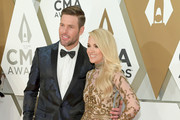 (FOR EDITORIAL USE ONLY) Mike Fisher and Carrie Underwood attend the 53rd annual CMA Awards at the Music City Center on November 13, 2019 in Nashville, Tennessee.