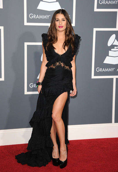 Actress Lea Michele arrives at The 53rd Annual GRAMMY Awards held at Staples Center on February 13, 2011 in Los Angeles, California.