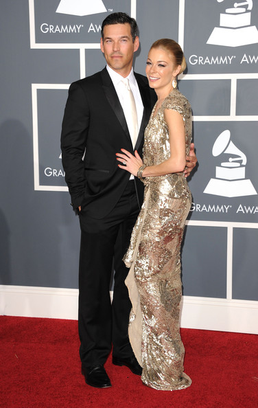 Actor Eddie Cibrian (L) and singer LeAnn Rimes arrive at The 53rd Annual GRAMMY Awards held at Staples Center on February 13, 2011 in Los Angeles, California.