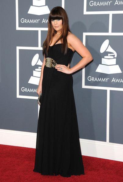 Signer Hillary Scott of the band Lady Antebellum arrive at The 53rd Annual GRAMMY Awards held at Staples Center on February 13, 2011 in Los Angeles, California.