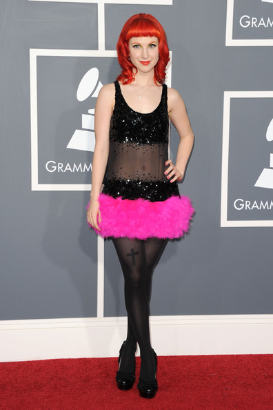 Singer Hayley Williams arrives at The 53rd Annual GRAMMY Awards held at Staples Center on February 13, 2011 in Los Angeles, California.