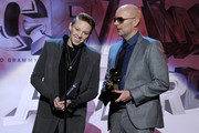 Musicians Elly Jackson and Ben Langmaid from the band La Roux accept the Best Electronic/Dance Album Award onstage during The 53rd Annual GRAMMY Awards held at Staples Center on February 13, 2011 in Los Angeles, California.
