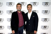 "Director Nanni Moretti (L) and actor John Turturro attend the  53rd New York Film Festival - ""Mia Madre"" Screening And Q&AAlice Tully Hall, Lincoln Center on September 27, 2015 in New York City."