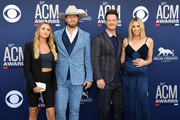 Brittney Marie Kelley, Brian Kelley of Florida Georgia Line, Tyler Hubbard of Florida Georgia Line and Hayley Hubbard attend the 54th Academy Of Country Music Awards at MGM Grand Hotel & Casino on April 07, 2019 in Las Vegas, Nevada.