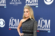 <<enter caption here>> attends the 54th Academy Of Country Music Awards at MGM Grand Hotel & Casino on April 07, 2019 in Las Vegas, Nevada.