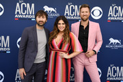 (L-R) Dave Haywood, Hillary Scott, and Charles Kelley of Lady Antebellum attend the 54th Academy Of Country Music Awards at MGM Grand Hotel & Casino on April 07, 2019 in Las Vegas, Nevada.