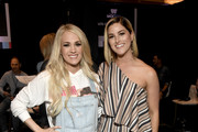 (L-R) Carrie Underwood and Cassadee Pope attend the 54th Academy Of Country Music Awards Cumulus/Westwood One Radio Remotes on April 05, 2019 in Las Vegas, Nevada.