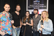 (2nd L-R) Charles Kelley, Hillary Scott, and Dave Haywood of Lady Antebellum attend the 54th Academy Of Country Music Awards Cumulus/Westwood One Radio Remotes on April 06, 2019 in Las Vegas, Nevada.