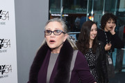 """Carrie Fisher attends the 54th New York Film Festival - """"Bright Lights"""" Photo Cal on October 10, 2016 in New York City."""