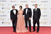 (L-R) Robert Knepper, Cynthia Addai-Robinson, Christopher McDonald and Trevor Donovan attend the closing ceremony of the 55th Monte-Carlo Television Festival on June 18, 2015, in Monaco.