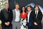 "(L-R) Christopher Mcdonald, Trevor Donovan, Cynthia Addai Robinson, Robert Knepper and Cirspin Glover attend a photocall for the ""Texas Rising"" TV series on June 15, 2015 in Monte-Carlo, Monaco."