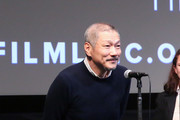 """South Korean director Hong Sang-soo makes an intro at the screening of """"The Day After"""" during the 55th New York Film Festival at The Film Society of Lincoln Center, Walter Reade Theatre on October 7, 2017 in New York City."""