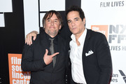 """Director Richard Linklater and Yul Vazquez attend the opening night premiere of """"Last Flag Flying"""" during the 55th New York Film Festival at Alice Tully Hall, Lincoln Center on September 28, 2017 in New York City."""