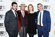 "Filmmaker Josh Koury, American writer Gay Talese, Producer Trisha Koury and Filmmaker Myles Kane attend a screening of ""Voyeur"" during the 55th New York Film Festival at The Film Society of Lincoln Center, Walter Reade Theatre on October 4, 2017 in New York City."