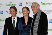 (L-R)  Actor Martin Short,  actress Catherine O'Hara and actor Martin Landau  attend the opening night film of the 56th BFI London Film Festival 'Frankenweenie 3D' at Odeon Leicester Square on October 10, 2012 in London, England.