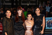 Actresses Deborah Mailman, Shari Sebbens, Miranda Tapsell and Jessica Mauboy attends the premiere of 'The Sapphires' during the 56th BFI London Film Festival at Odeon West End on October 15, 2012 in London, England.